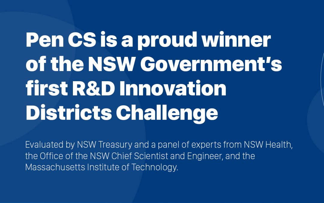 Pen CS announced as a winner of NSW Government's R&D Innovation Districts Challenge